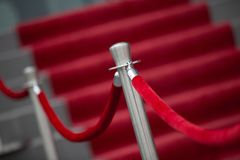 Red Carpet and Barrier Rope. Red Carpet, stairs and Barrier Rope Royalty Free Stock Photo