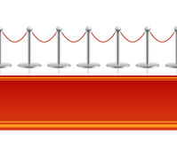 Red carpet with barrier rope seamless background Stock Photography