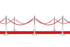 Red Carpet and Barrier Rope Stock Images