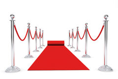 Red Carpet and Barrier Rope Royalty Free Stock Image
