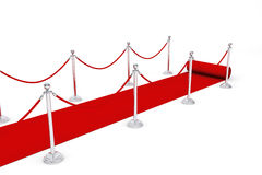 Red Carpet and Barrier Rope Royalty Free Stock Photography