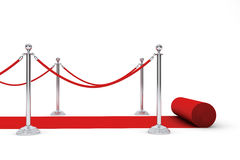 Red Carpet and Barrier Rope Stock Photos