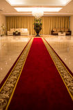 Red carpet. With a beautiful pattern for VIP Royalty Free Stock Photography