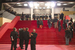 Red carpet Cannes stock photo