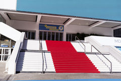Red carpet in Cannes, France. Stairs of fame Royalty Free Stock Images