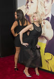 Red Carpet Clowning. Actresses Rachel Feinstein and Nikki Glaser play up the laughs as they arrive on the red carpet for the world premiere of the bawdy comedy royalty free stock photo