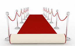 Red carpet. 3d high quality render Royalty Free Stock Images
