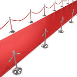 Red carpet, diagonal side view Royalty Free Stock Photos