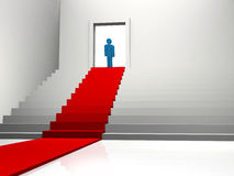 Red Carpet enter a man Stock Photo