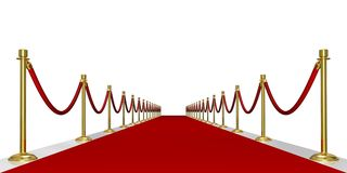 Red carpet entrance stock image