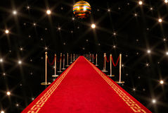 Red carpet entrance Stock Photo