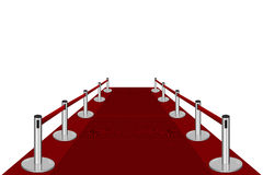 Red Carpet Entrance. Rendered. EPS & ai available Royalty Free Stock Images
