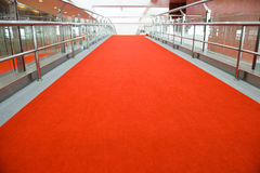 Red carpet entrance Royalty Free Stock Image