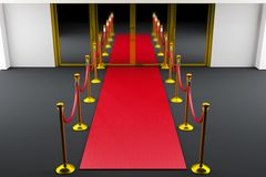 Red carpet entrance Stock Images