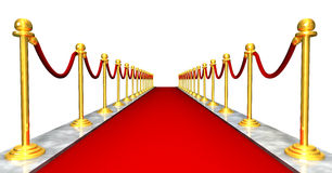 Red Carpet Entrance. 3D entrance with a red carpet Royalty Free Stock Photos