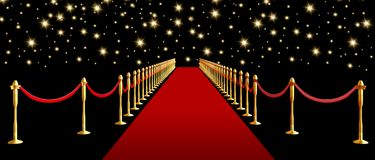 Red carpet. royalty free illustration