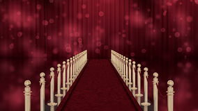 Red carpet entrance with chroma key stock illustration
