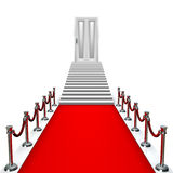 Red carpet entrance with door Royalty Free Stock Photo