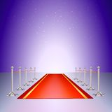 Red carpet entrance with the stanchions and the Stock Image