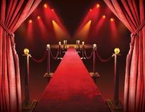 Red carpet entrance Royalty Free Stock Photos