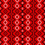 Red carpet with ethnic motifs. Seamless pattern canvas Stock Images