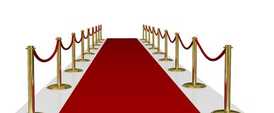 Red Carpet of Fame Stock Photos