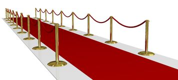 Red Carpet of Fame Stock Photo