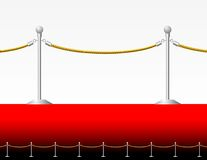 Red carpet fence Royalty Free Stock Photography
