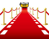 Red Carpet Film. Vector: The same film as the red carpet Stock Photography