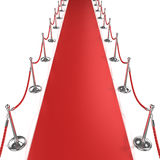 Red carpet, front view Stock Photos
