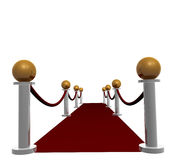 Red carpet hallway. And stairs illustration Stock Photography