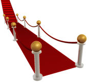 Red carpet hallway. And stairs illustration Stock Image