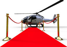 Red Carpet Helicopter entrance Stock Photography