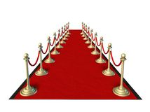 Red carpet Hollywood. Premier movie star isolated on white Royalty Free Stock Image