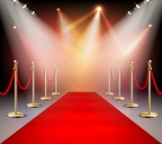 Red Carpet In Illumination Composition Royalty Free Stock Photos
