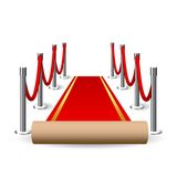 Red Carpet  illustration Stock Photos