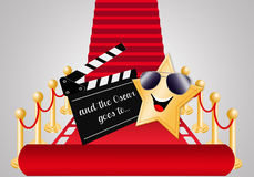 Red carpet. Illustration of Red carpet for Oscar nomination Royalty Free Stock Photography