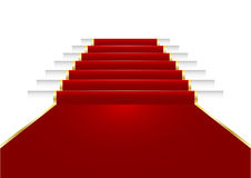 Red carpet. Illustration of a red carpet on staircase Stock Photos
