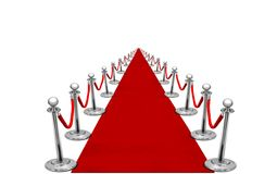 Red carpet with infinity view Royalty Free Stock Photo
