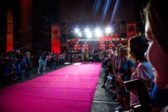 Red carpet. At the international festival of a motivational film Bridge arts 2016 in Rostov-na-Donu Royalty Free Stock Image