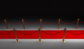Red carpet isolated on black. 3d render Royalty Free Stock Photo