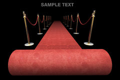 Red carpet isolated on black Royalty Free Stock Image