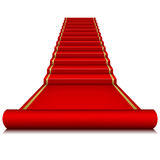 Red carpet with ladder Royalty Free Stock Photo