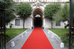Celebrity red carpet hotel theater entrance Stock Photography