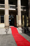 Red carpet, celebrity hotel or theater entrance Royalty Free Stock Photography