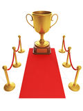 Red carpet leading to the Cup Royalty Free Stock Photos