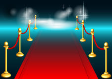Red carpet and light Royalty Free Stock Image