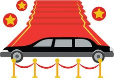 Red Carpet Limo Royalty Free Stock Image