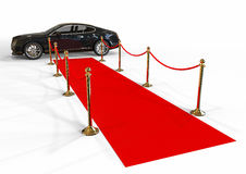 Red carpet and limousine Royalty Free Stock Photography