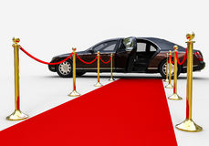 Red Carpet limousine Royalty Free Stock Photo